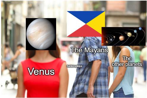 Girls go to Venus for the penis - meme