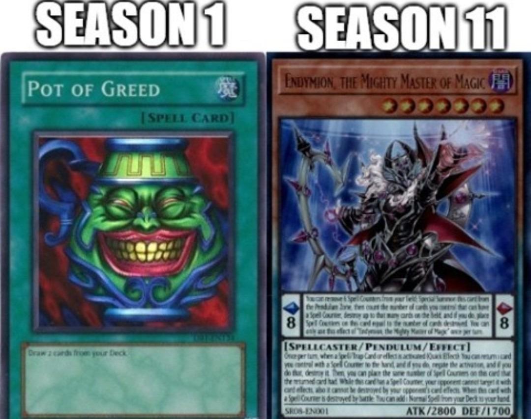 Aviadaram Yu-Gi-Oh com mucho texto - meme