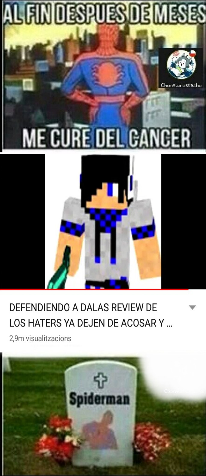El titulo murio por cancer - meme