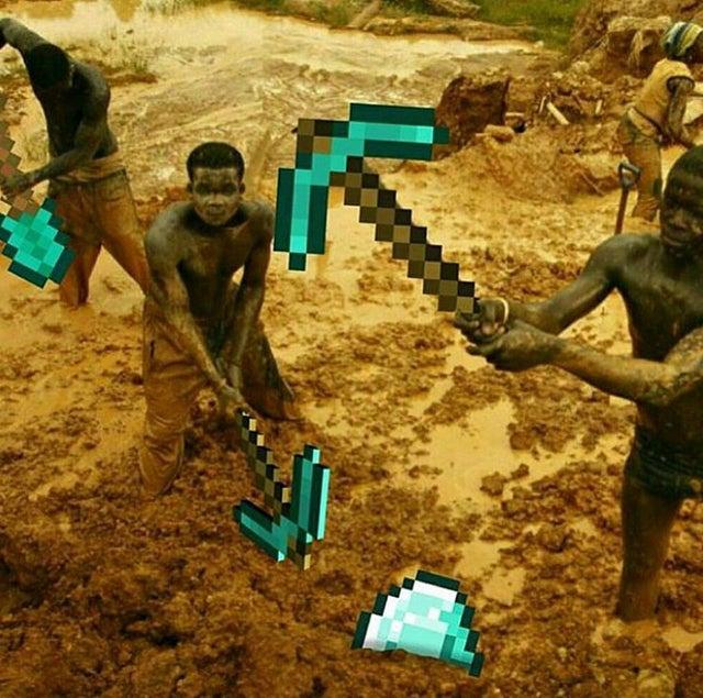 mining away - meme