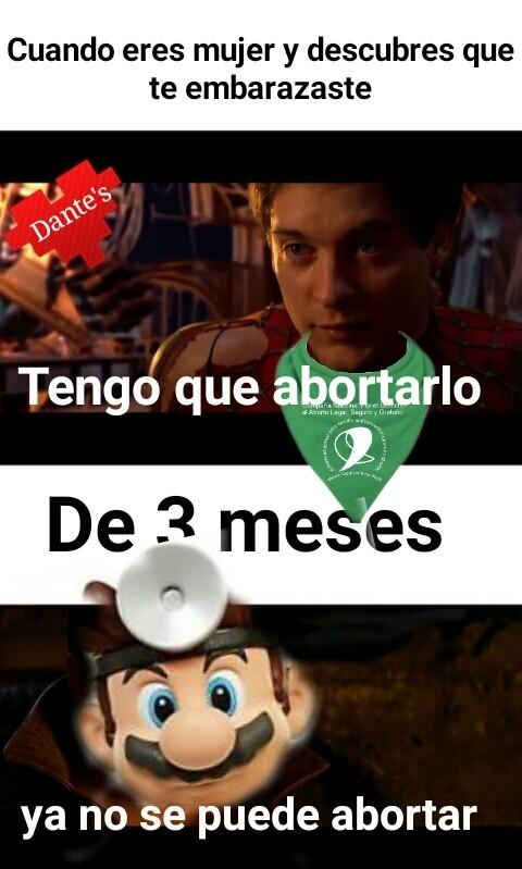 mario abortero - meme