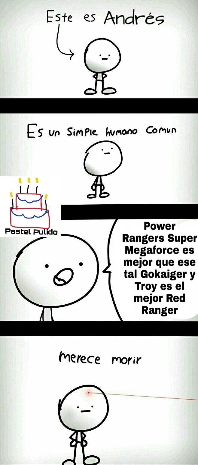 La trinidad de porquería de Power Rangers es Turbo, Operación Sobrecarga y Megaforce/Super Megaforce - meme