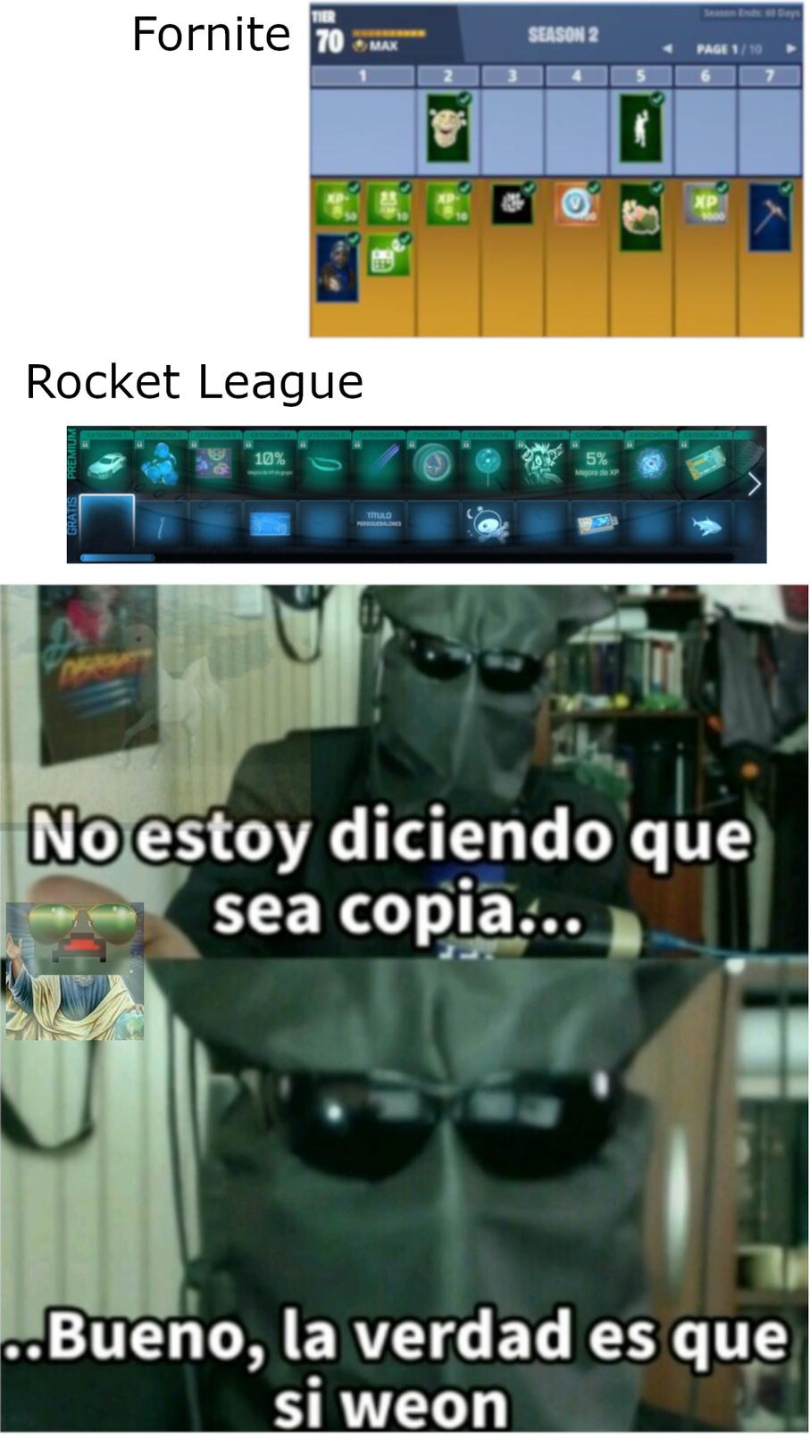 Lo hice cuando entre al rocket y vi lo del rocket pass :þ - meme