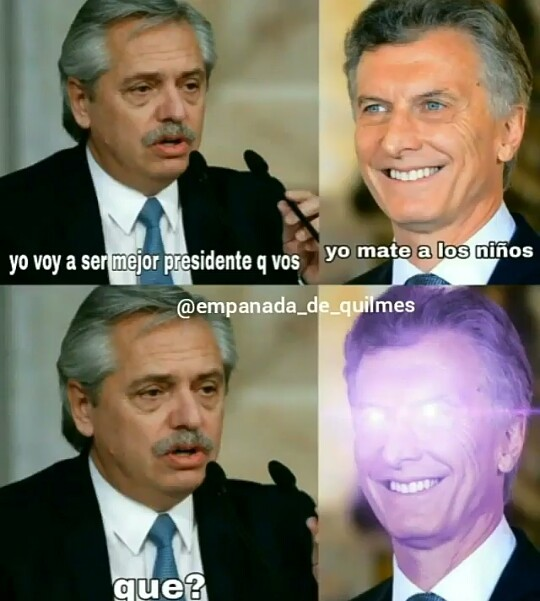 Wtf macri eso no es de cracks - meme