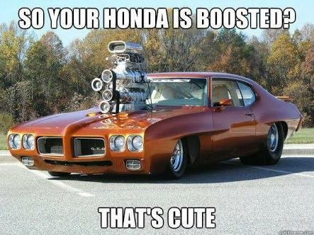 When your Honda is boosted 4 times - meme