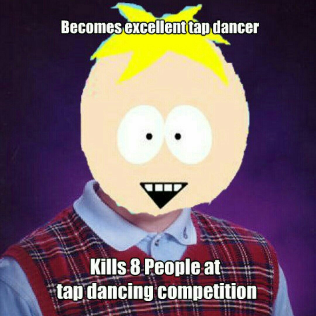 Bad luck butters - meme