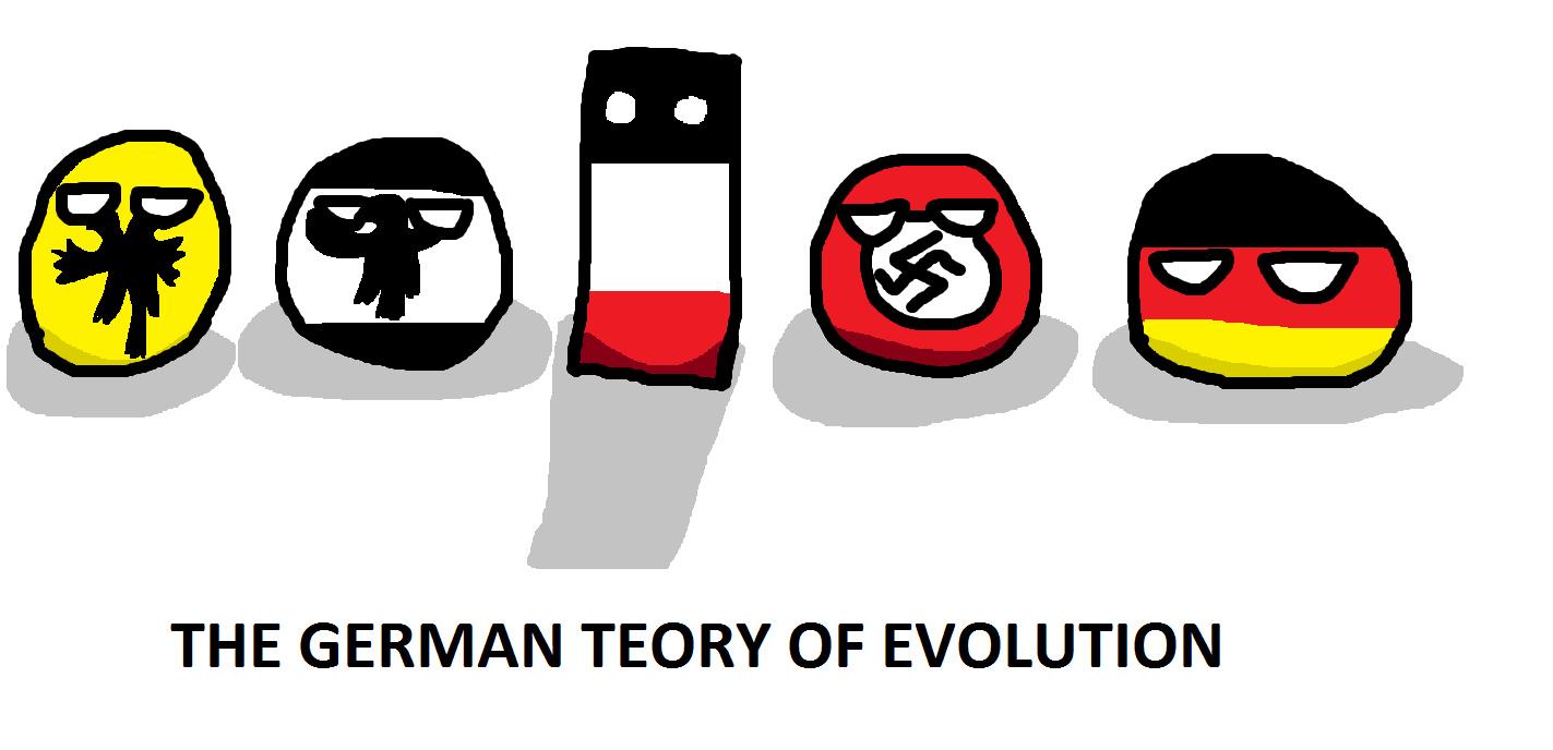 The German Teory Of Evolution - meme