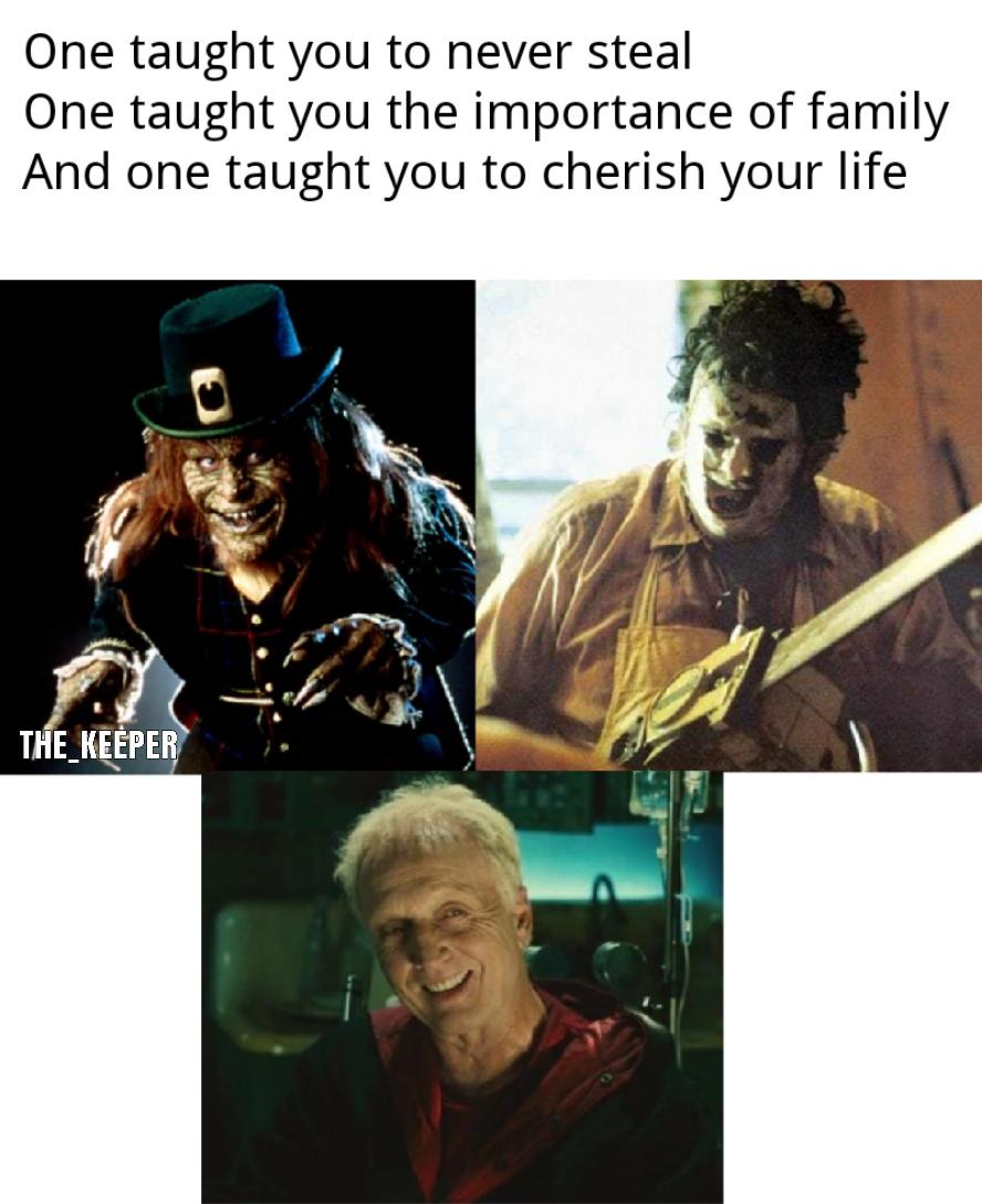 John Kramer continues to be my favorite horror movie villain - meme