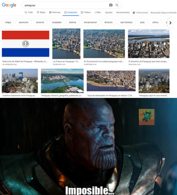 Paraguay existe, ya lo ven - meme