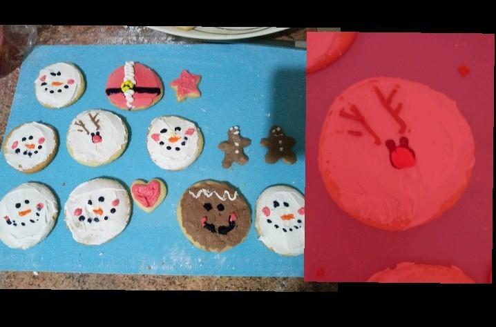 Que les parece mis galletas navideñas :D? - meme