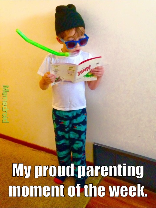 When you're pretty sure your kid is cooler than you... - meme
