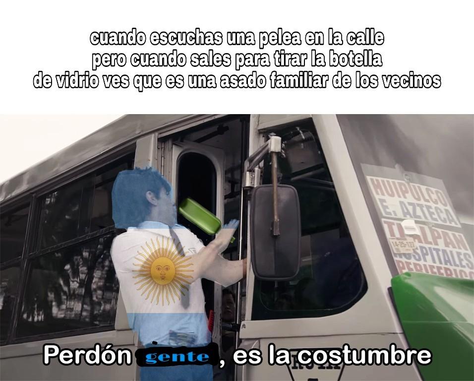 Peleas argentinas - meme