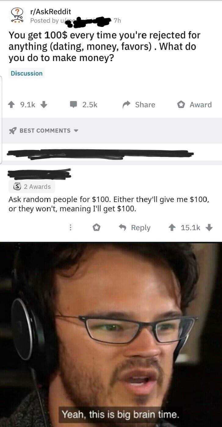 $100 for every upvote.... - meme