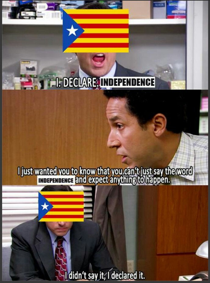 Catalonia in a nutshell - meme