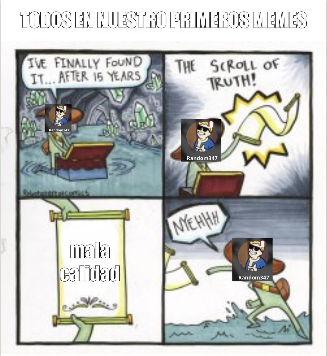 Este meme ha sido borrado por mala calidad