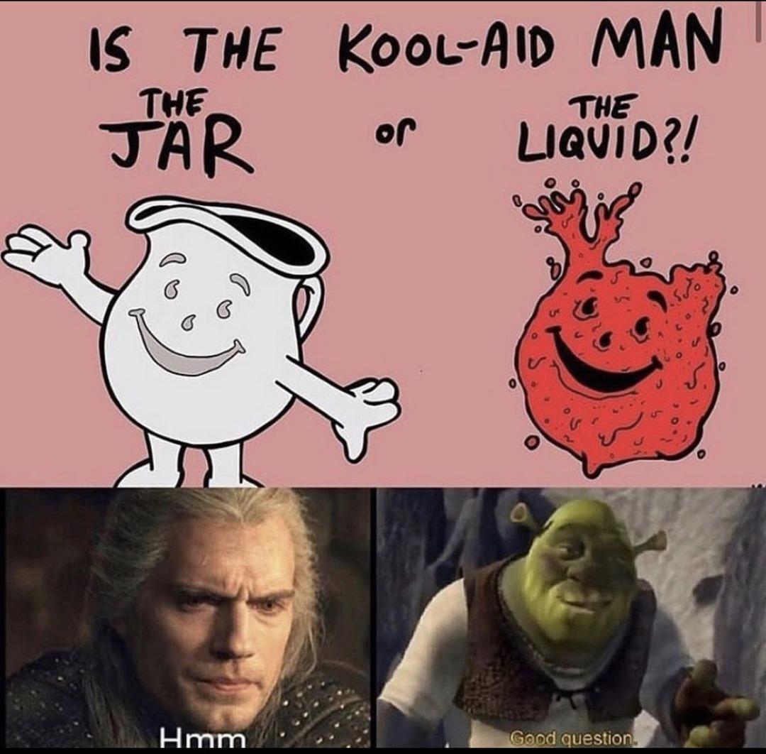 cursed kook aid guy - meme