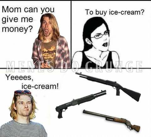R.I.P Kurt meu Herói :( - meme