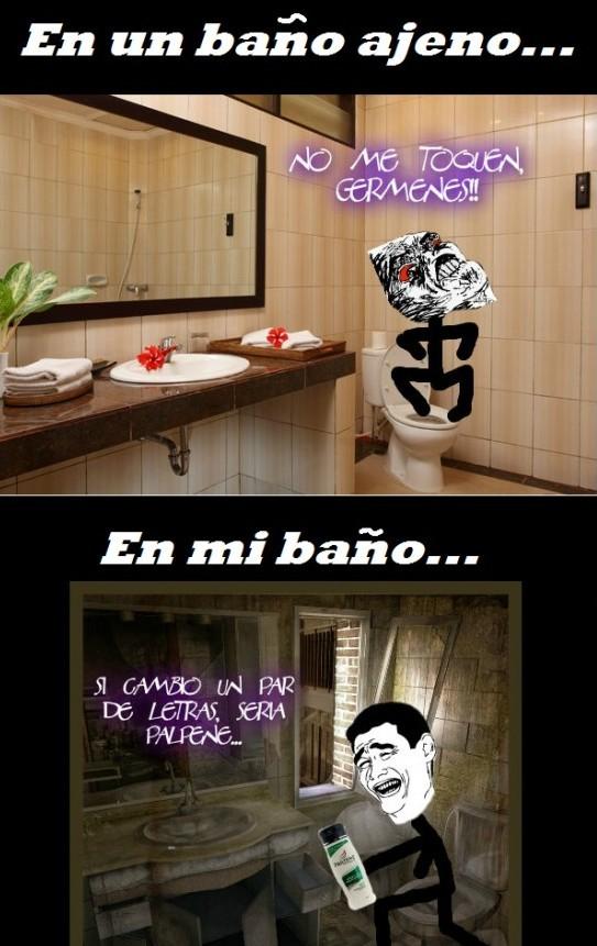 Cuestión de baños - meme
