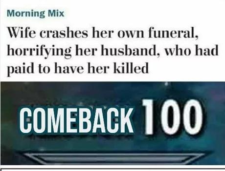 Comeback - meme