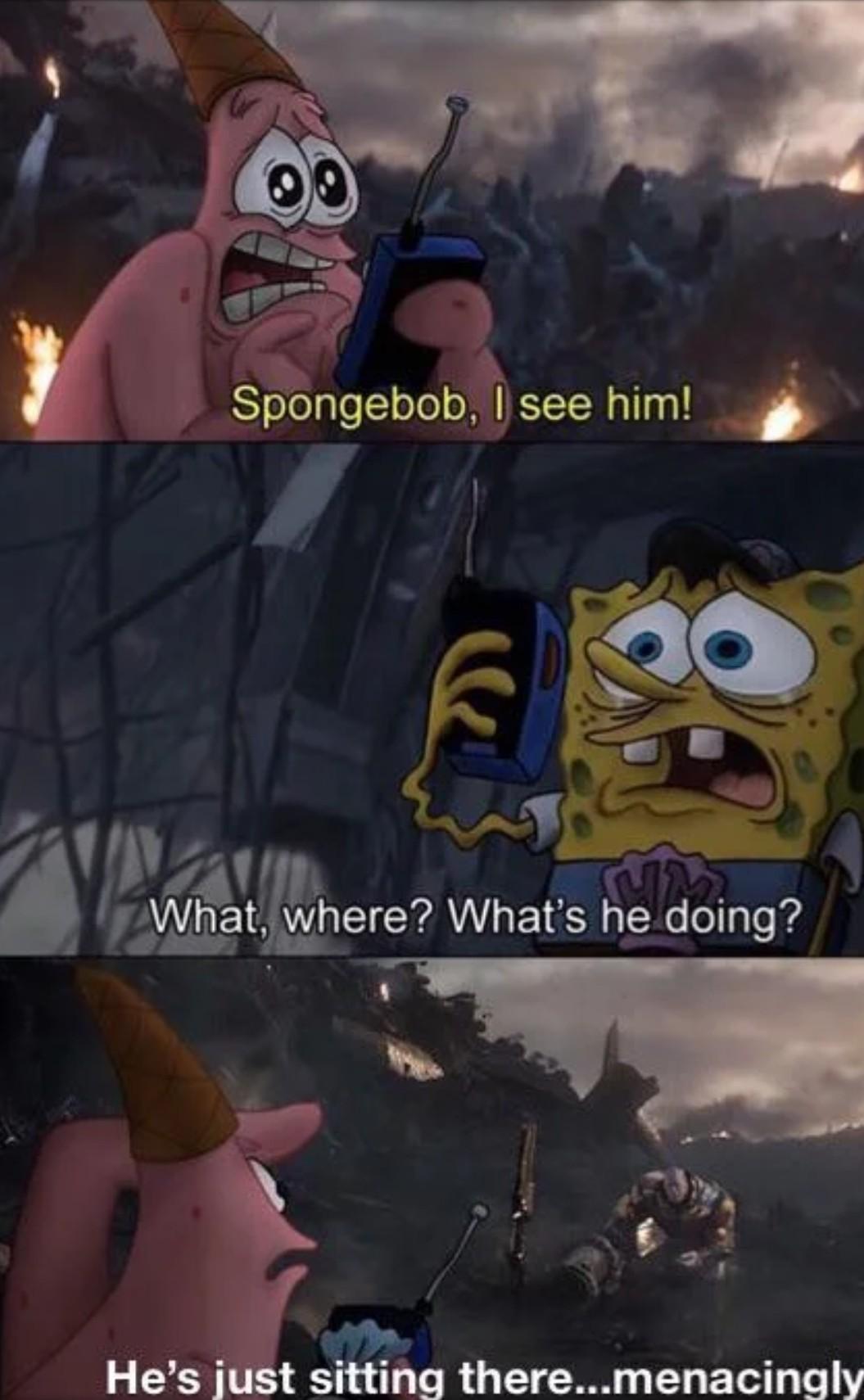 I can see him - meme