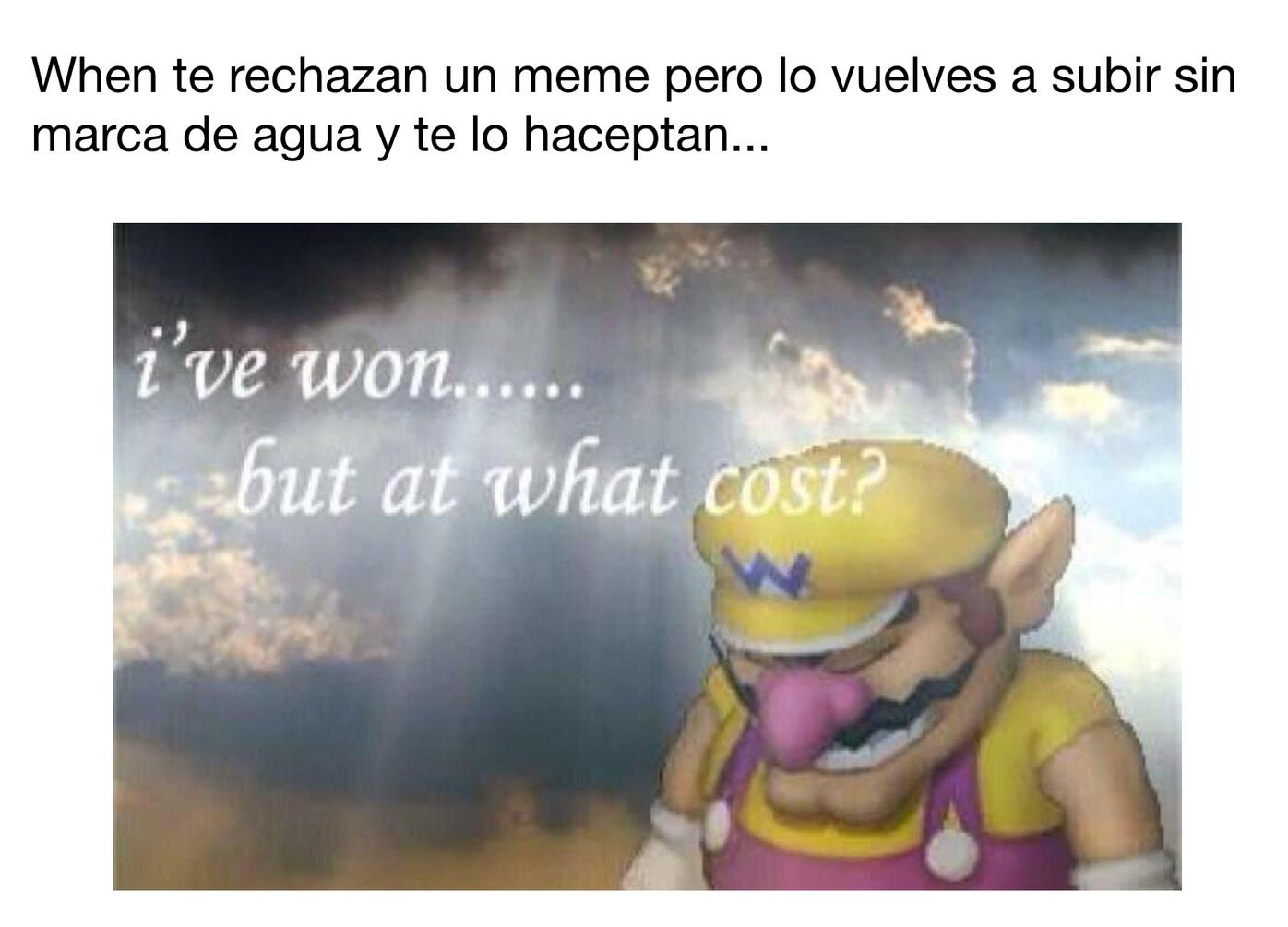A que coste... - meme