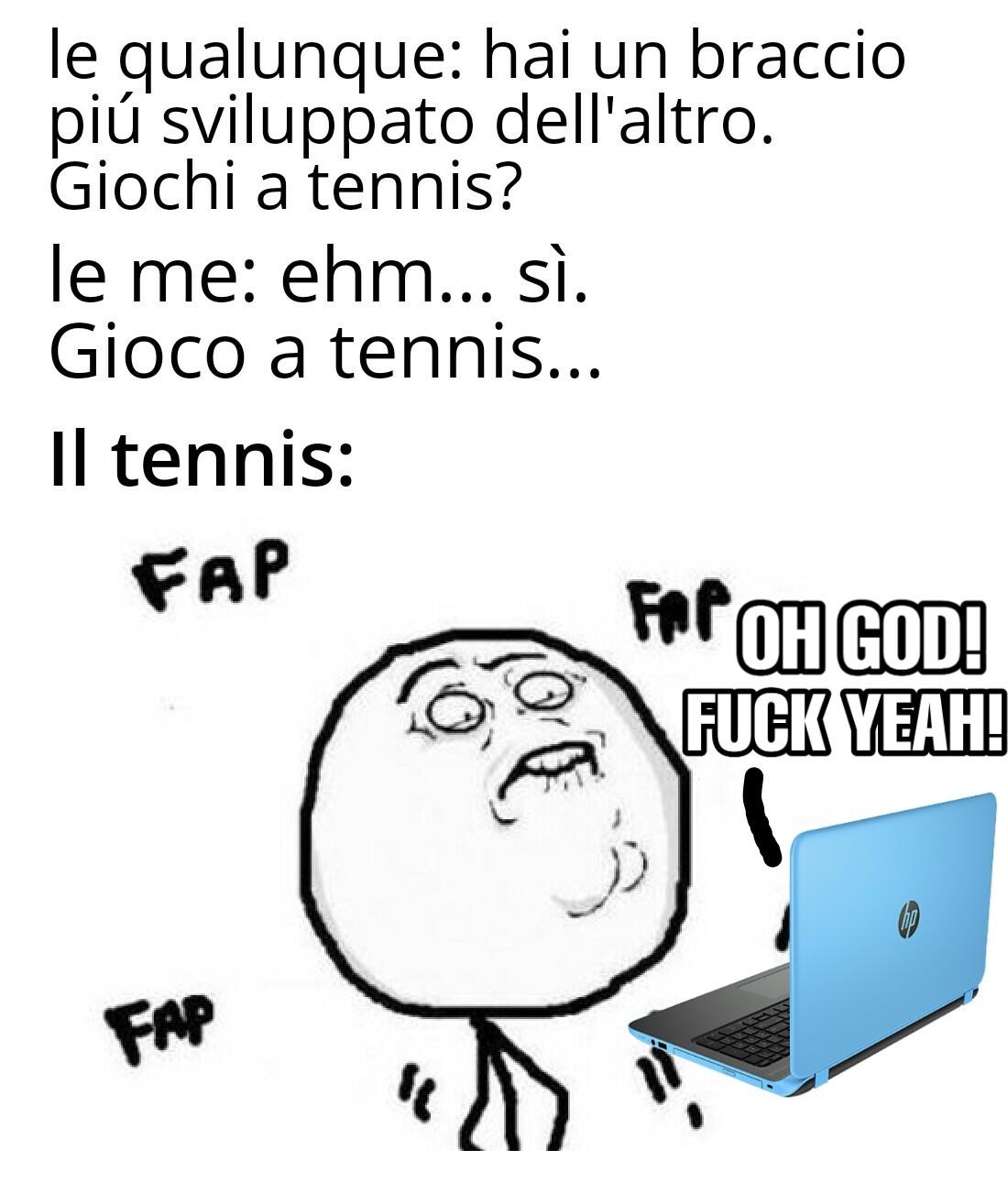 Sono un campione di tennis - meme