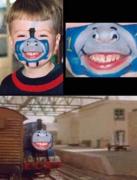thomas the wank engine - meme
