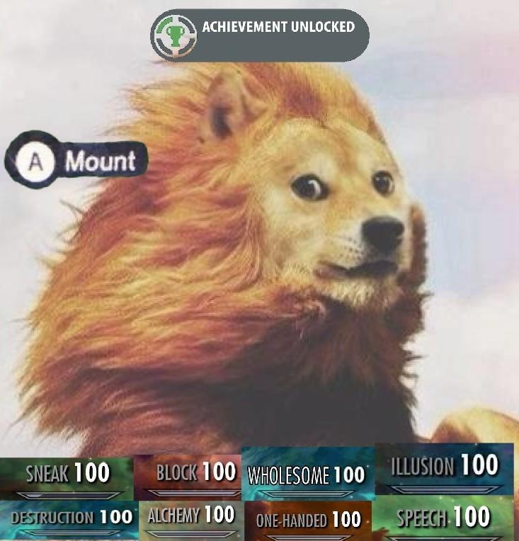 Doge León Como Montura - meme