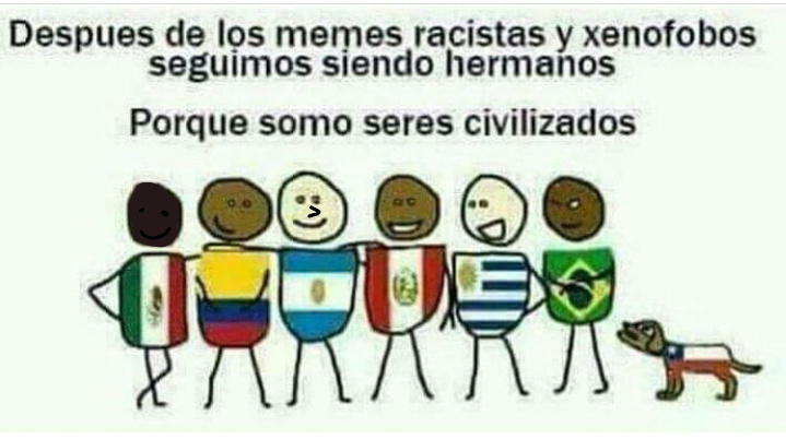 No peliemos hermanos latinos - meme