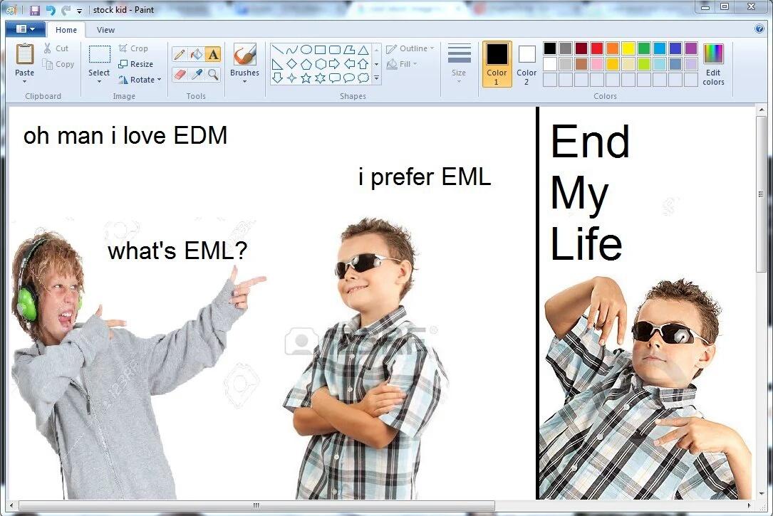 "OH MAN, I LOVE A BIT OF THAT ""EML"" - meme"