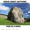 It's a pebble