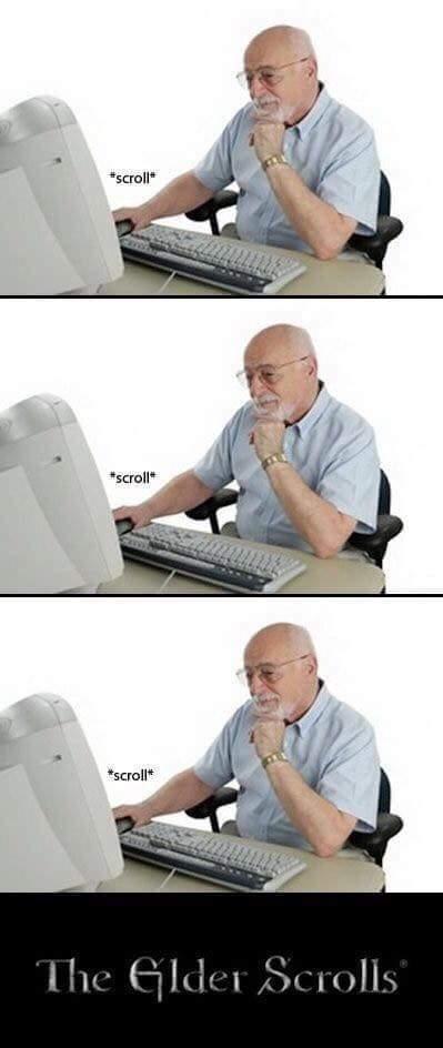 Keep scrolling! - meme