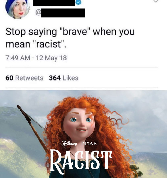 Stop saying brave when you mean racist - meme