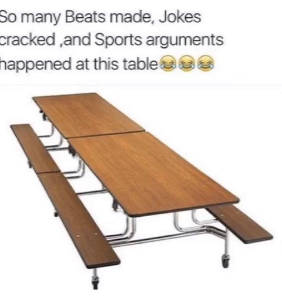 Let's take a moment of silence for these tables - meme