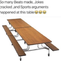 Let's take a moment of silence for these tables
