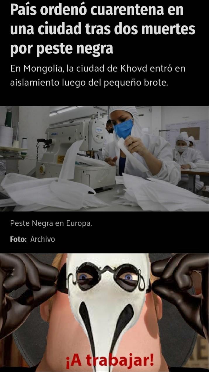 El titulo murió de peste negra - meme