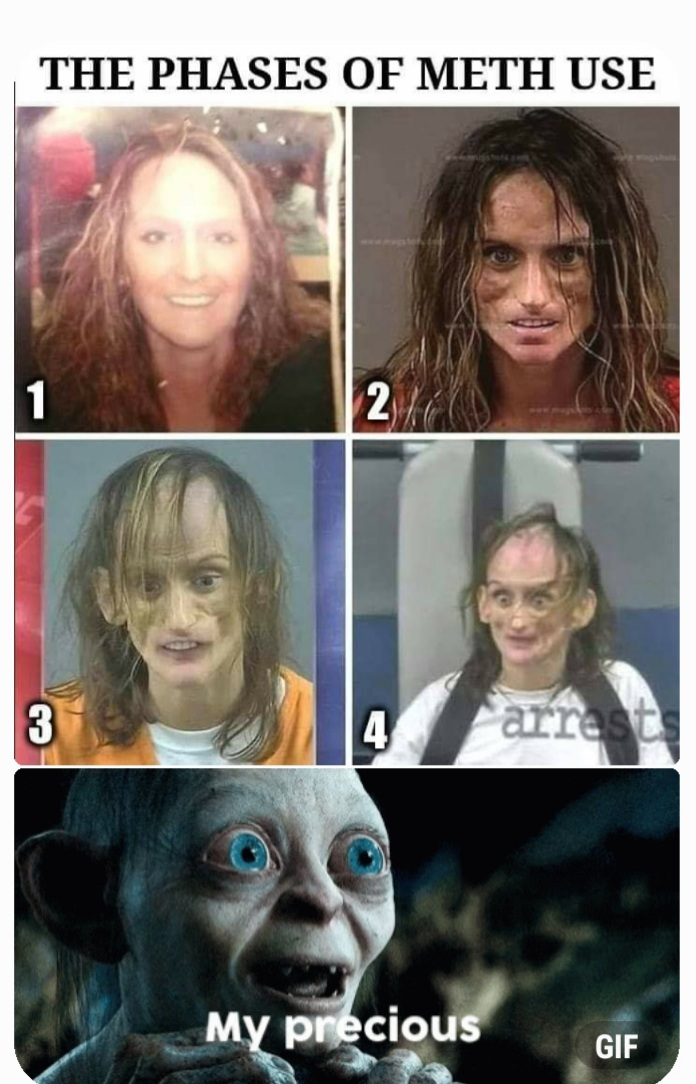Stages of Meth - meme