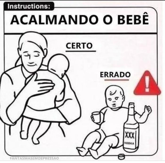 Como os russos acalmam o bebê: - meme