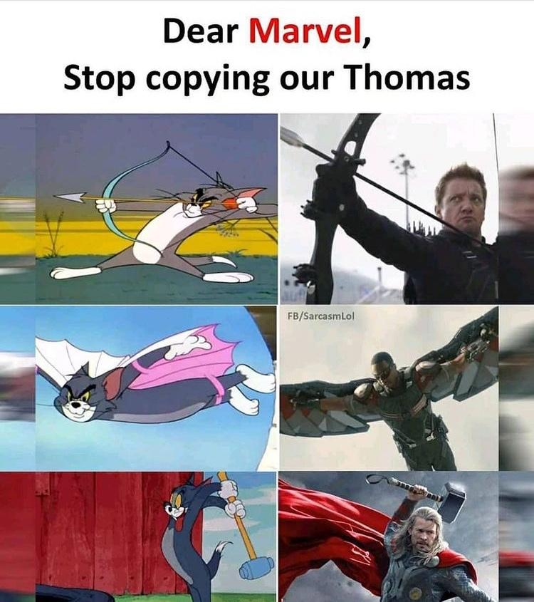 Tom has all the powers - meme