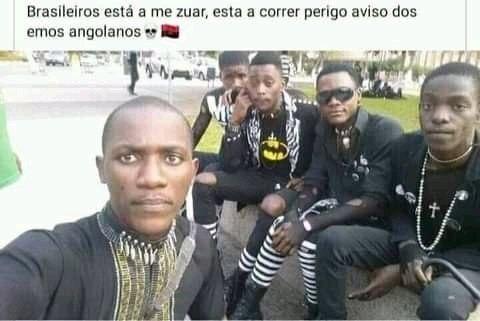 EMO Angolanos kkkkkkk - meme