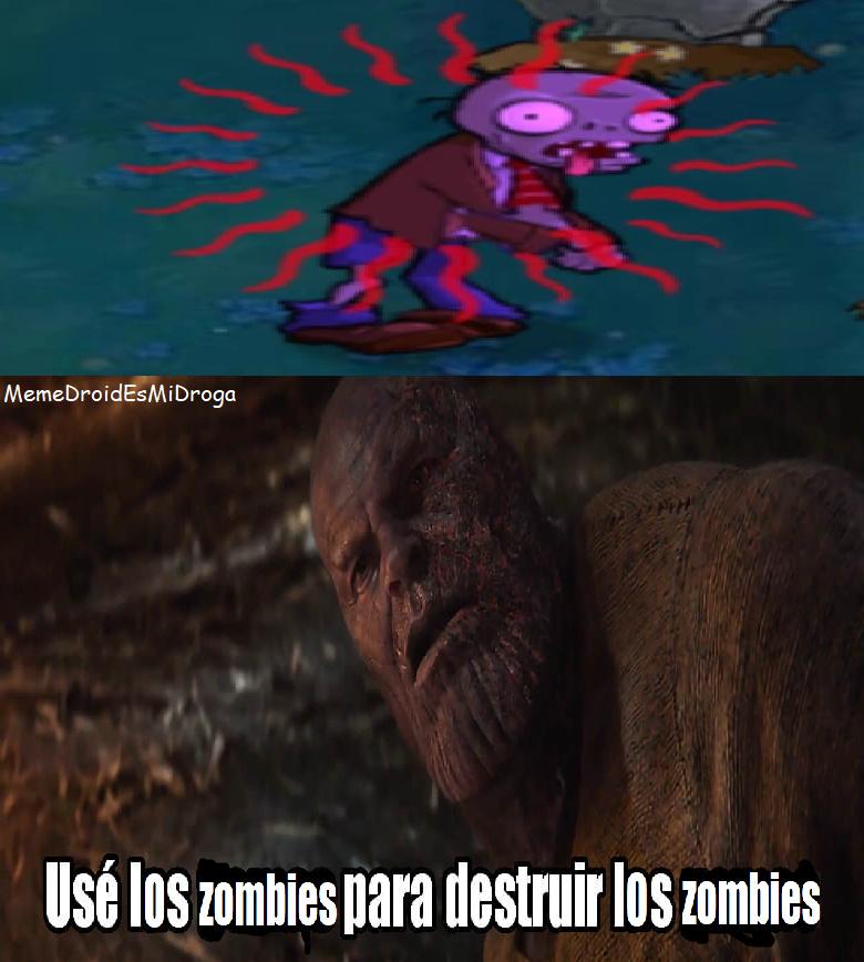 El zombi ocupó el bicio - meme