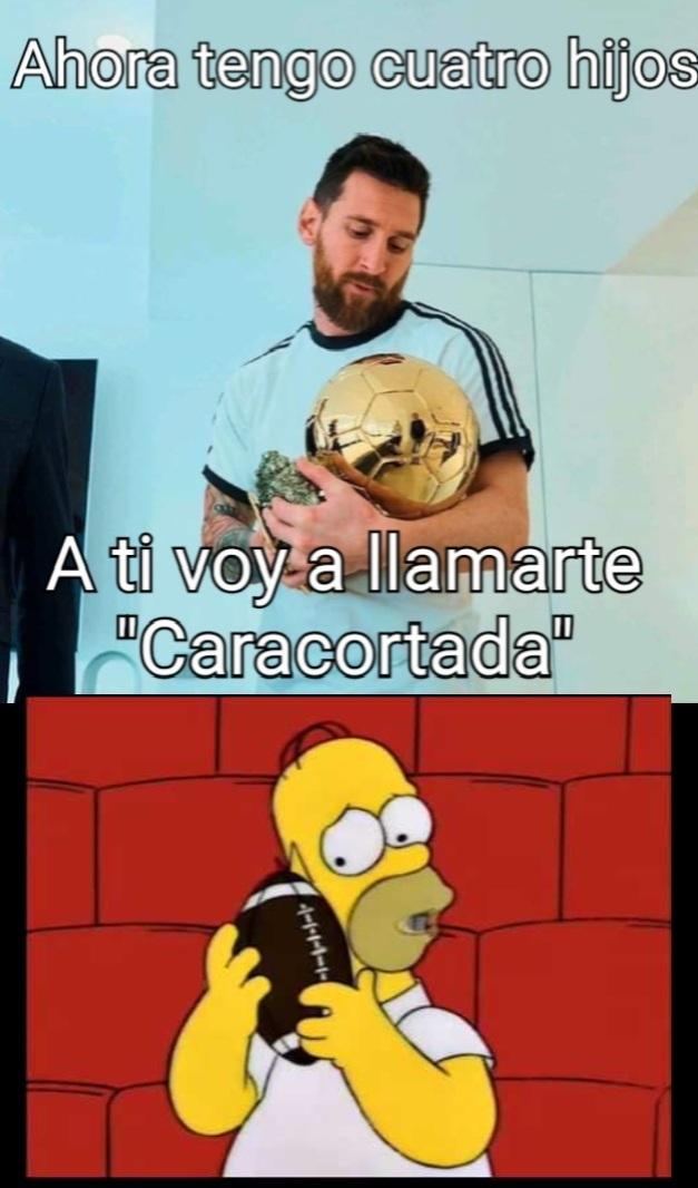 Los Simpson predicen a Messi - meme