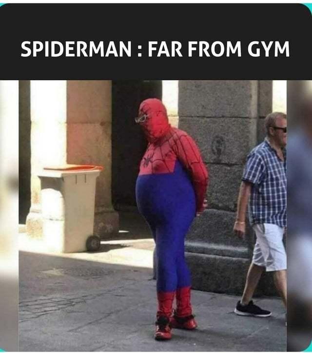 Spiderman: Far from Gym - meme