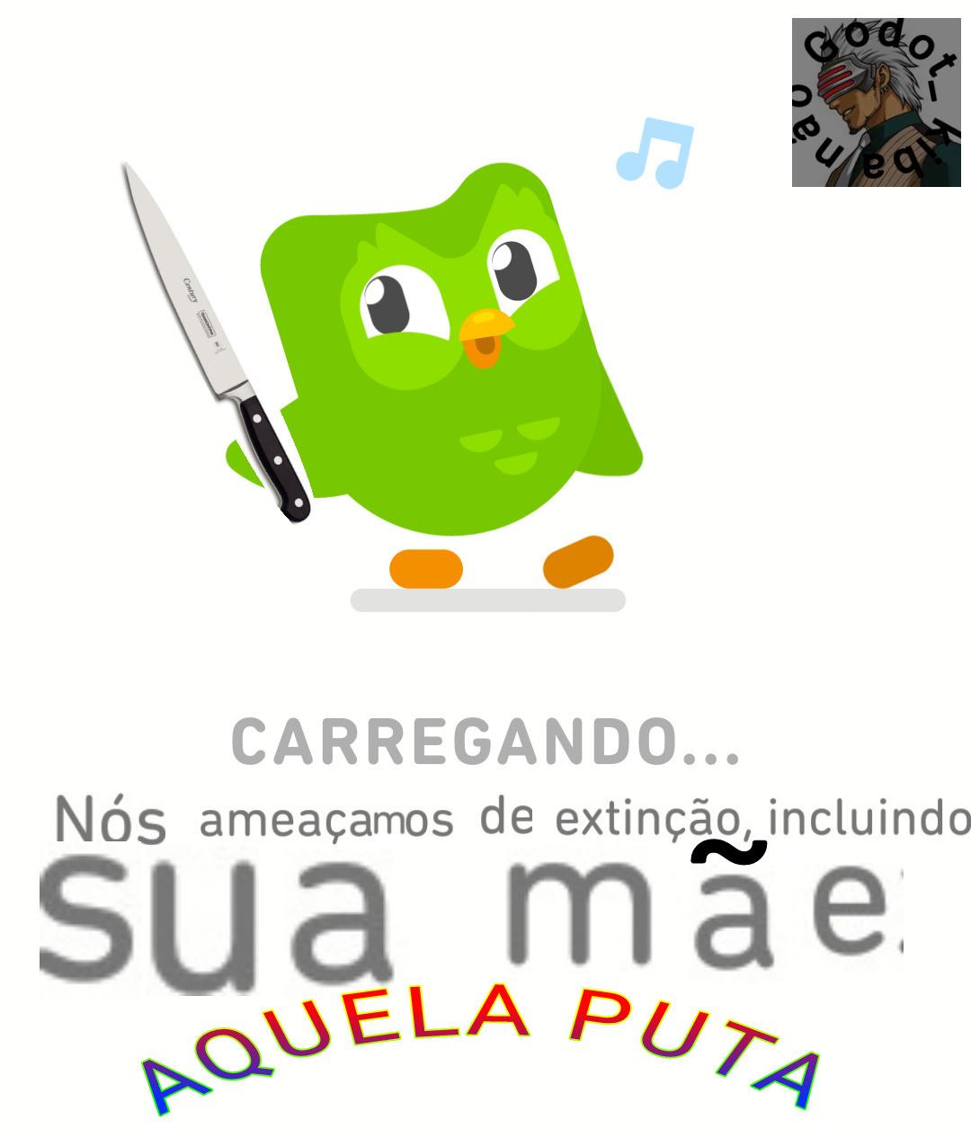 Duolingo psicopata - meme