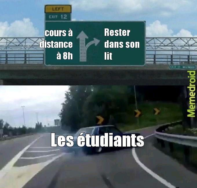 Dur d'être étudiant - meme