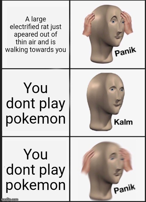 P A N I K - meme