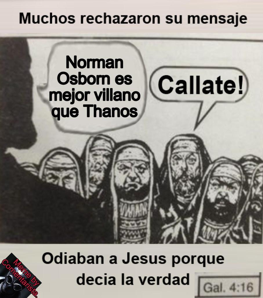 Digan eso en un grupo de Marvelitas y te dan 200 biblias - meme