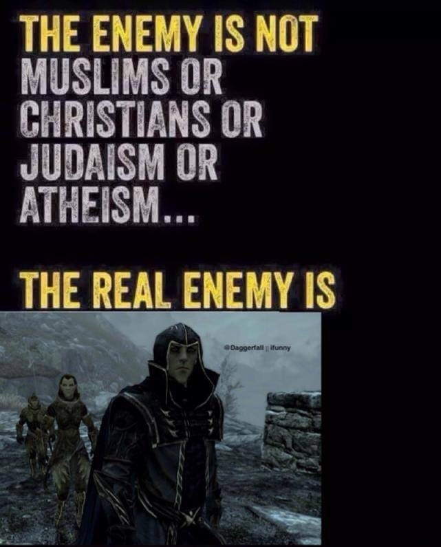 the real enemy (sky rim) - meme