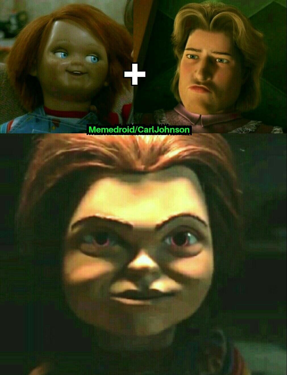 He aqui el Chucky Encantador JA - meme