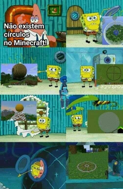 o título foi jogar Minecraft - meme